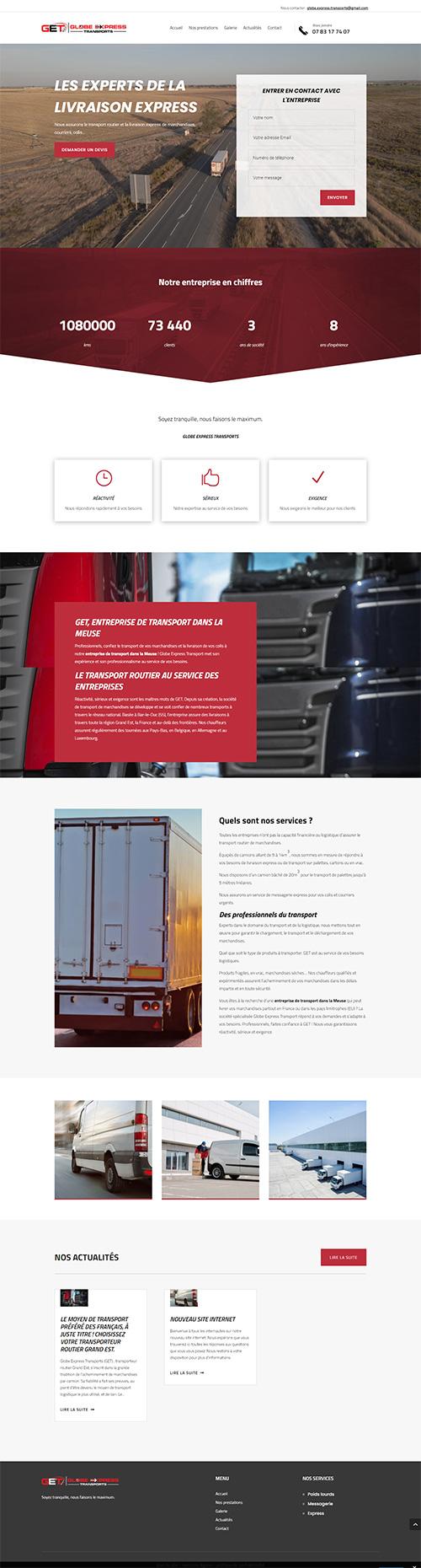 page d'accueil du site SARL END